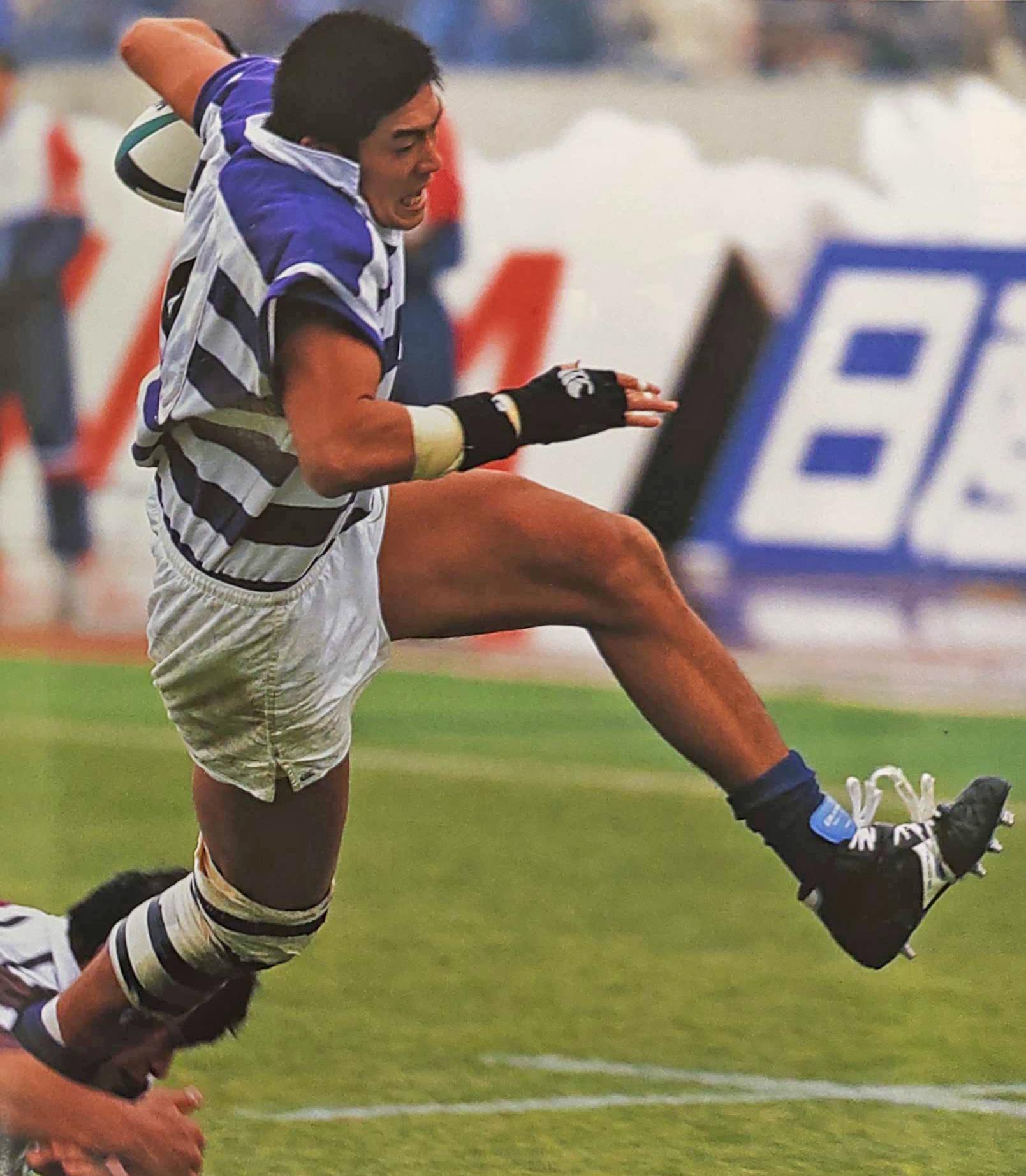 1998年、明大ラグビー部時代の鈴木健三