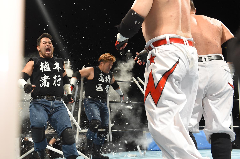 2016年9月7日=新木場 1st Ring、vs星野勘九郎&稲葉雅人(パートナーは高橋匡哉)