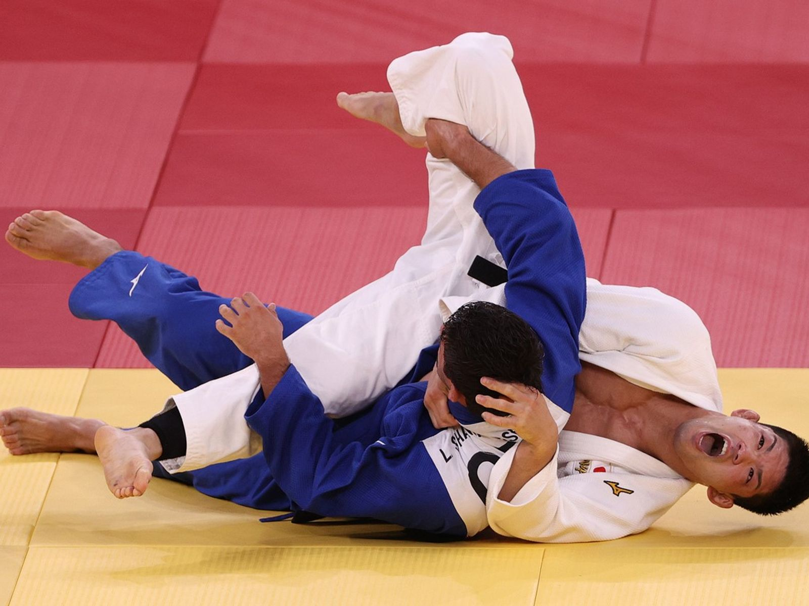 73kg級決勝、延長戦の末にシャブダツアシビリを下した大野将平(写真/GettyImages)