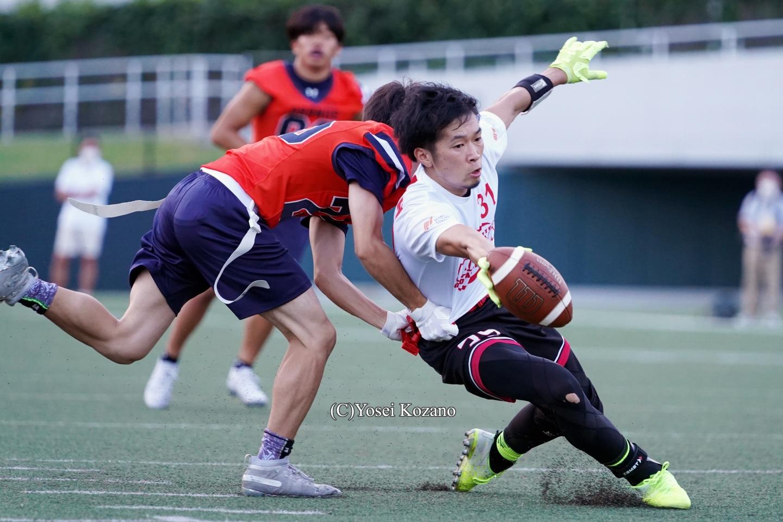フラッグフットボール男子日本代表=撮影:小座野容斉